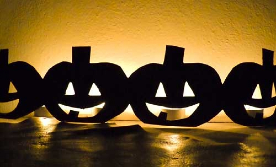 Zucche illuminate per Halloween
