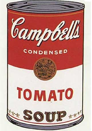 campbell tomato soup andy warhole