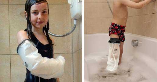 Fare il bagno con il gesso al braccio o alla gamba - Fare il bagno in inglese ...